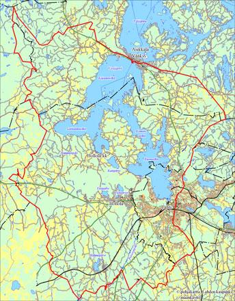 Vesijärven kalastusalueen kartta